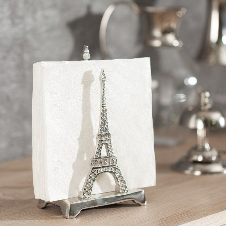 Stojak Eiffel Tower na dokumenty 20cm, 7x12x20cm - Dekoria #dekoracje #decoration #dom #home #salon #idea #inspiration #inspiracje