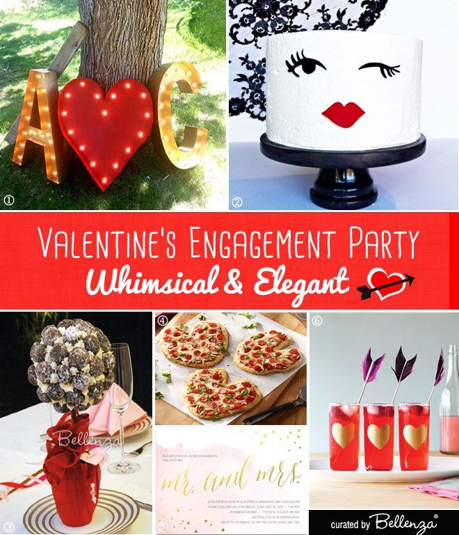 17 best images about valentine 39 s day party theme ideas on for Different engagement party ideas