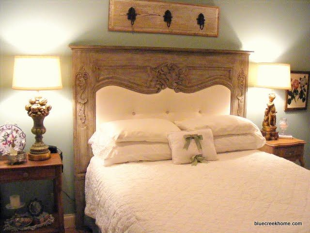 DIY headboard from an over mantel