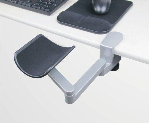 Tansy Material de aluminio de diseño ergonómico soporte codo, Escritorio de la computadora soporte de antebrazo acoplable para el trabajo cómodo ordenador