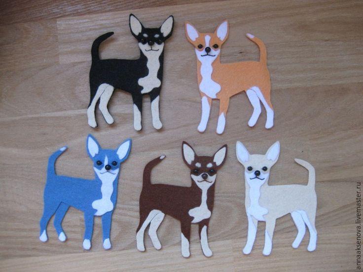 Собачка из фетра — оригинальный магнитик в подарок - Ярмарка Мастеров - ручная работа, handmade