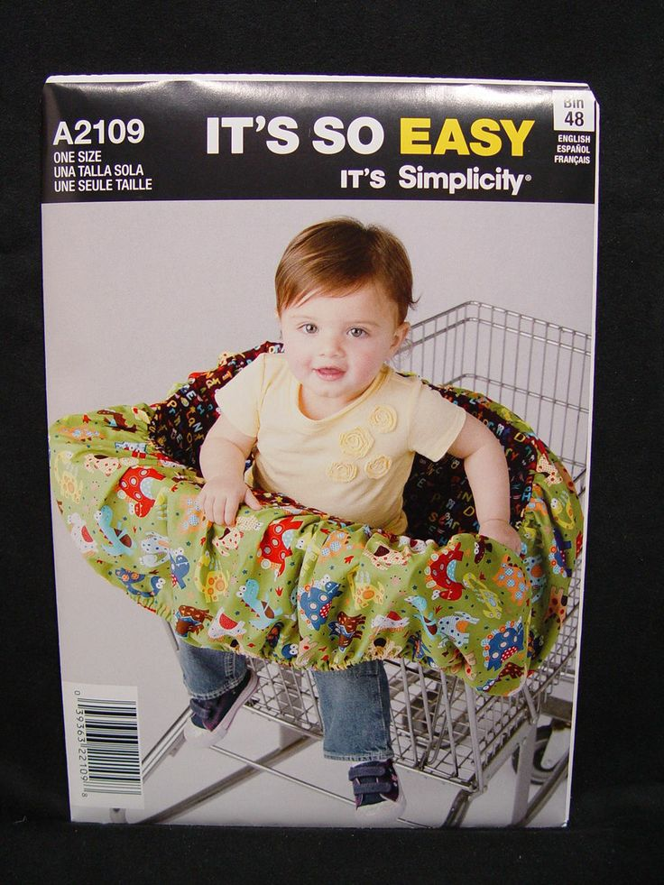 New Simplicity It's So Easy A2109 Toddler Shopping Cart Cover Pattern - One Size - NIP Never Opened - Retail $10 - Asking $3 or trade