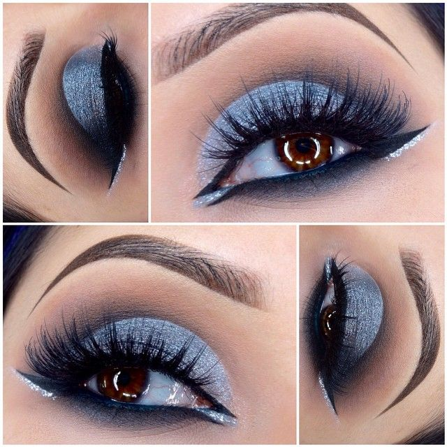 Great way to add blue shadow (for brown eyes)