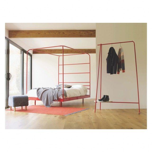 PARKINSON Red metal clothes rail | Buy now at Habitat UK