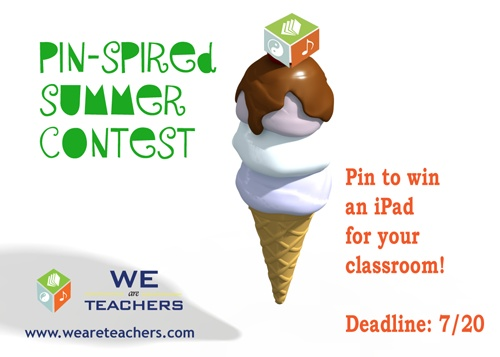 Teachers, want an iPad? Create a Pinterest board showing your dream summer and submit it to our contest for a chance to win.