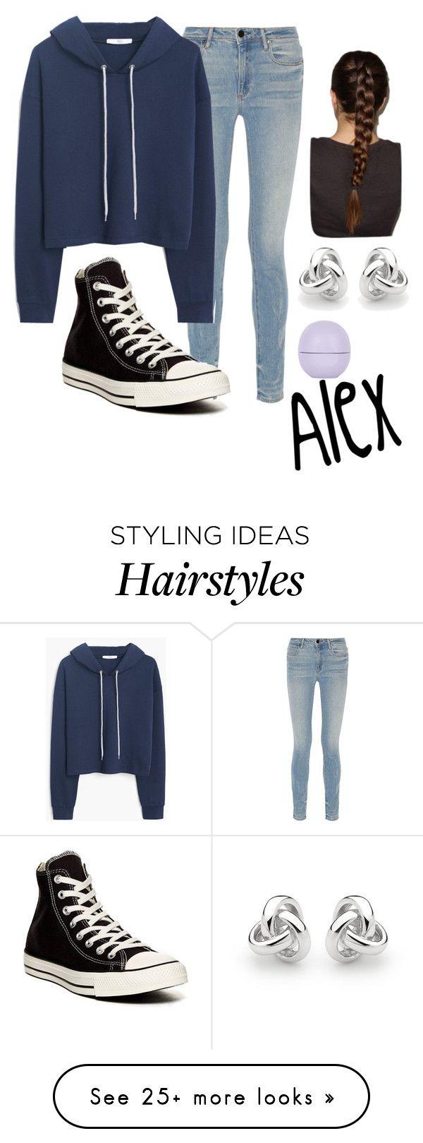 """Alex-A"" by fandom-fashion7 on Polyvore featuring Alexander Wang, MANGO, Converse, Topshop and Georgini"