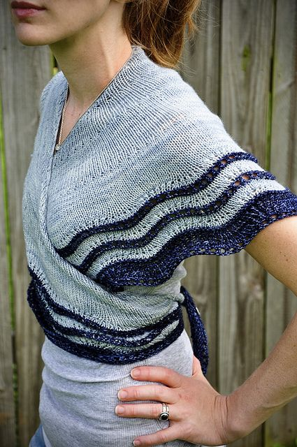 Whippoorwill shawl pattern by Carina Spencer.  I like how it can be worn wrapped…