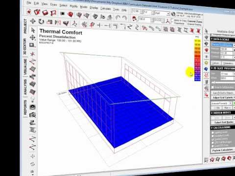 ▶ Ecotect Analysis - Designing for Thermal Comfort - YouTube