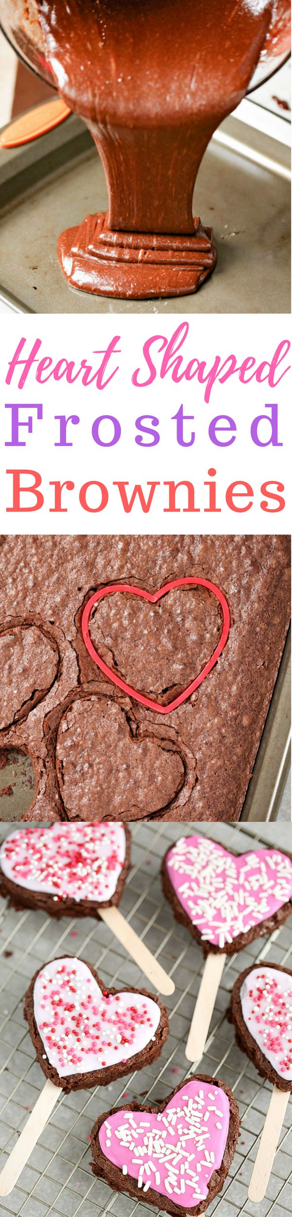 With Valentine's Day right around the corner, these Heart Shaped Frosted Brownies make for a decadent dessert to share with your loved ones. via @simplymommy