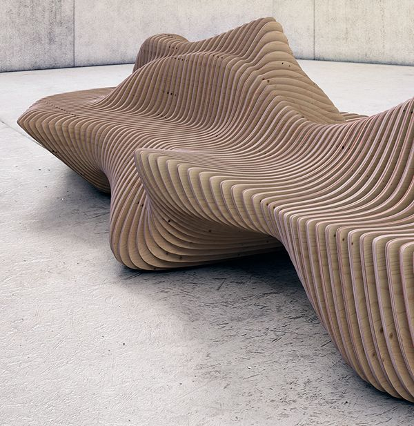 Murena bench on behance architecture pinterest for 70s wooden couch