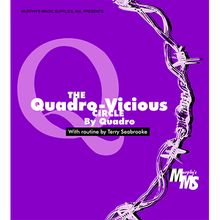 Quadro Vicious Circle Linking Rings by Murphys Magic Supplies - Trick