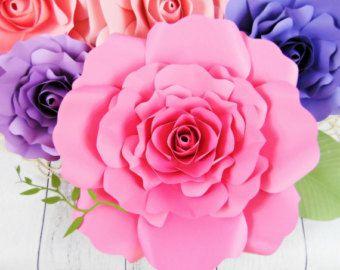 Giant Paper Flower Templates & Tutorials от CatchingColorFlies