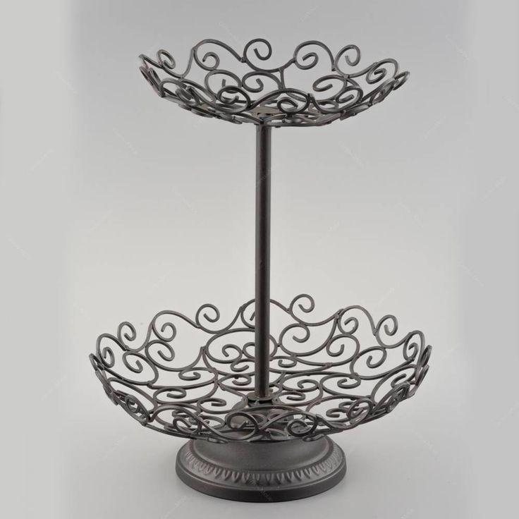 Fruteira Garden 2 Andares- em Ferro Fundido - 37,5x30,5 cm