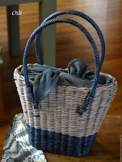сумка плетеная женская