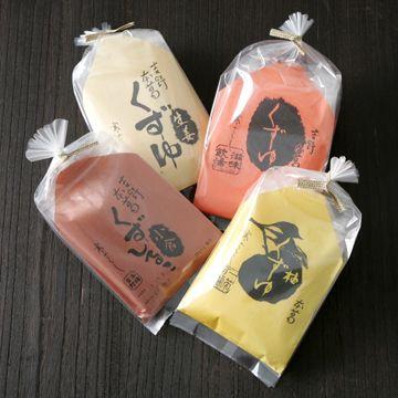 坂利の本葛 くずゆセット(プレーン・小倉・柚子・生姜) 2730yen 本葛使用!昔ながらの味を楽しめる4種のくずゆセット