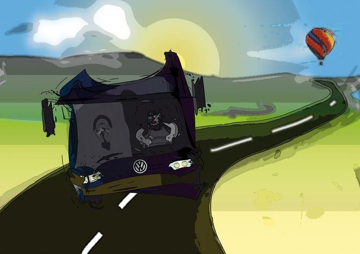 driver  #driver;  #bus;  #rysunek;  #jarlew75;