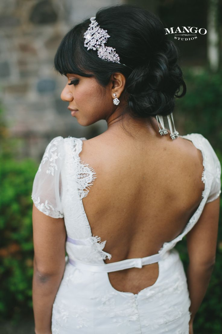 #hair #updo #pretty #elegant #bling #headband #sparkle #darkhair #weddingday #weddinginspiration #wedding #bride #ideas #weddingphotography #mangostudios Photography by Mango Studios