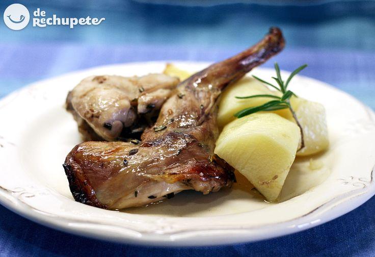 Conejo al horno o conejo asado - Recetasderechupete.com
