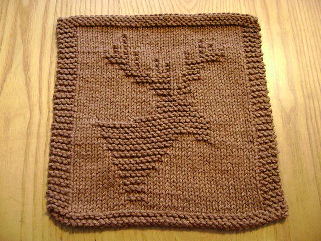Knit Dishcloth Pattern Ravelry : Ravelry: Knitted Moose Cloth pattern by Rhonda White dishcloth love Pinte...