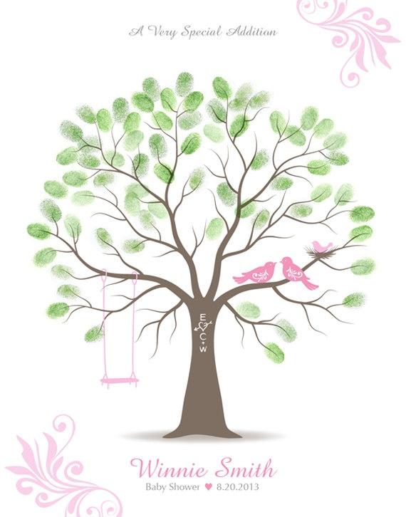 Thumbprint tree for Peyton's nursery