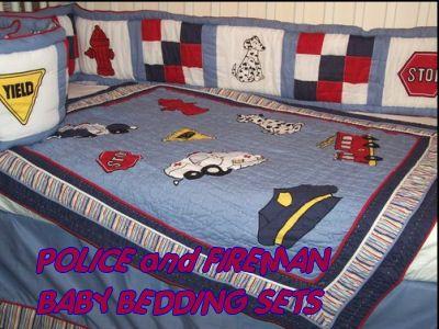 Police Nursery Theme Decorating Ideas, Police Baby Bedding