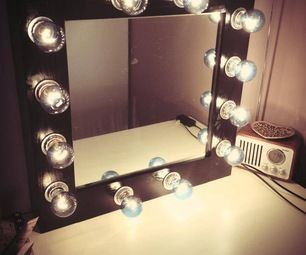 DIY Make-up Mirror With Lights  • I will be making this for my daughter. #future