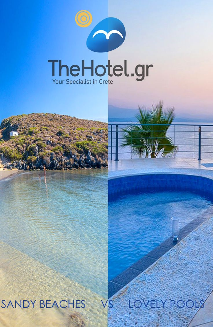 Sandy Beaches or Lovely Pools ? Book now a villa in Crete to enjoy both ! www.thehotel.gr