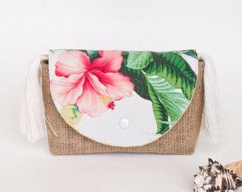 rosa aloha cremallera bolsa arpillera tropical floral gran tamao caja de viaje