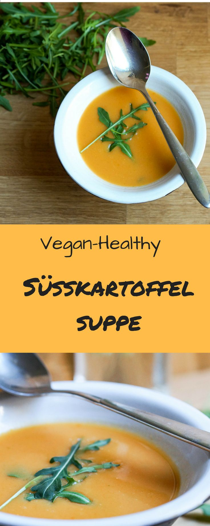 Eine vegane Süßkartoffelsuppe mit Rucola ein tolles Frühlings Rezept! - Tap the pin if you love super heroes too! Cause guess what? you will LOVE these super hero fitness shirt