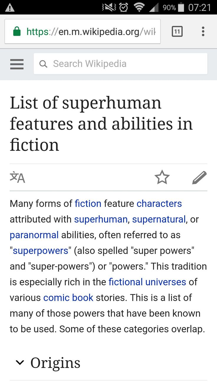 List of Superhuman Features and Abilities in Fiction (Superpowers) (Wikipedia)