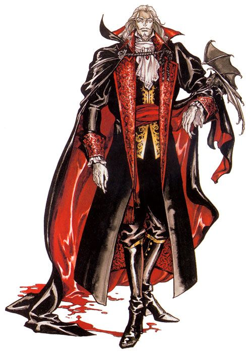 Count Dracula - Castlevania: Symphony of the Night art by Ayami Kojima (a Japanese game and concept artist who is best known for her work on the Castlevania series of video games with Konami)