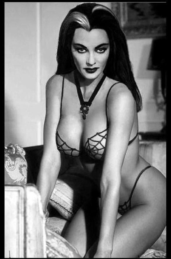 Yvonne De Carla (aka) Lily Munster goth pin up 1965.