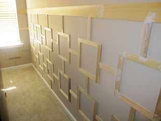 Moulding Designs For Walls thrifty decor chick our homeso many wonderful spaces in this home Geometric Wall Mouldings