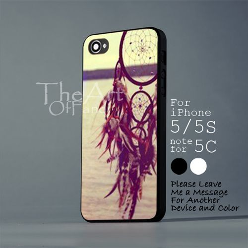 dream catcher at the sea side - iPhone 5 5S Black Case - Note For 5C