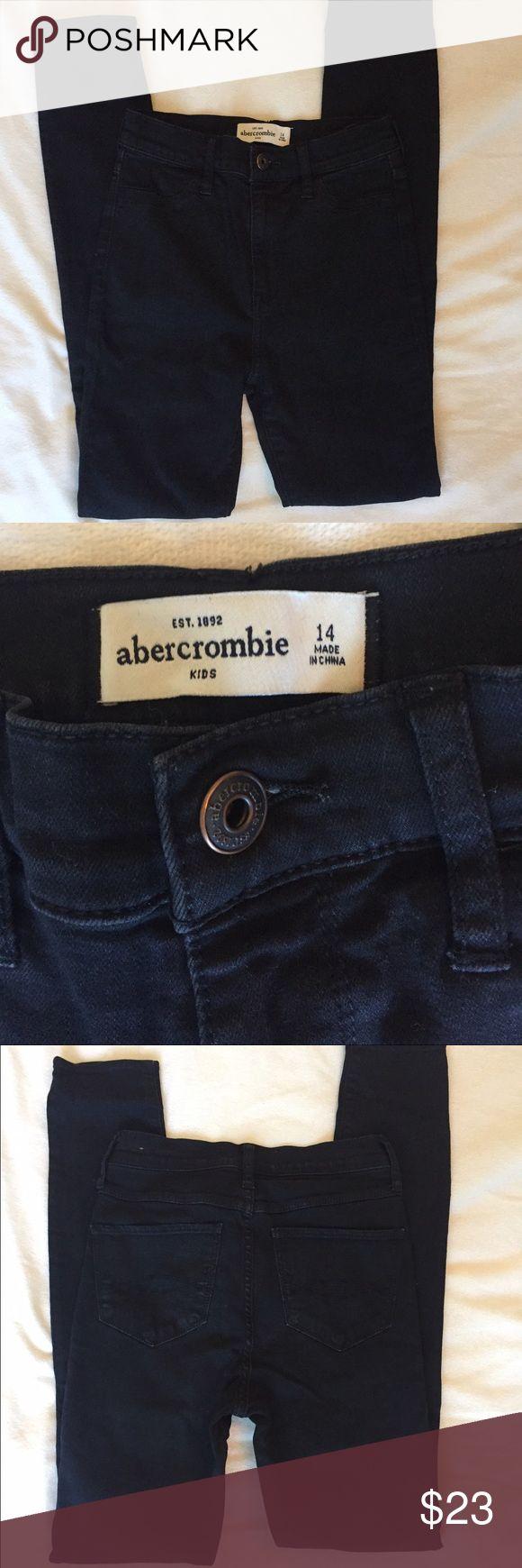Black Abercrombie jeggings skinny fit girls 14 Perfect condition. Black skinny fit. Abercrombie stretchy jeggings. Girls size 14. Abercrombie & Fitch Bottoms Jeans