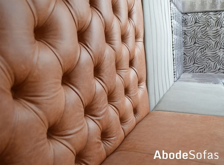 This stunning booth seating in Leather, Fabric and Patterned Fabric went down a treat when presented at a show a few years back | Abode Sofas