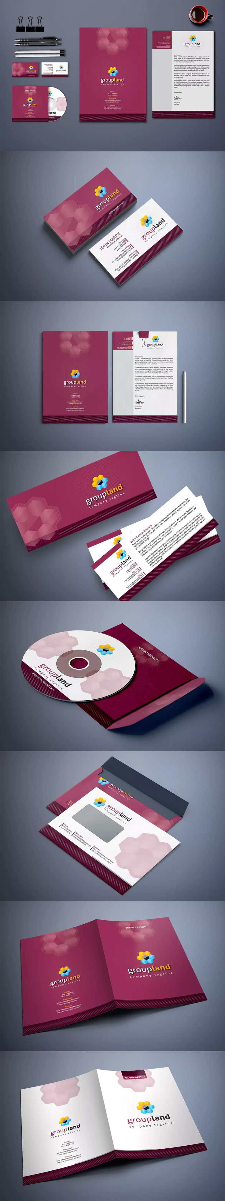43 best corporate identity template images on pinterest