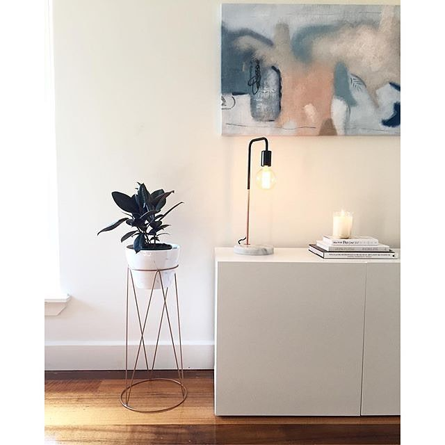 @maddisonclaireelliot's home is a perfect example of effortless styling - the clean lines of our Copper Stand and Marble Pot are on trend, while the Marmo lamp is a must have for any modern home. #kmartaus #kmartstyling #marmolamp #marble #copper