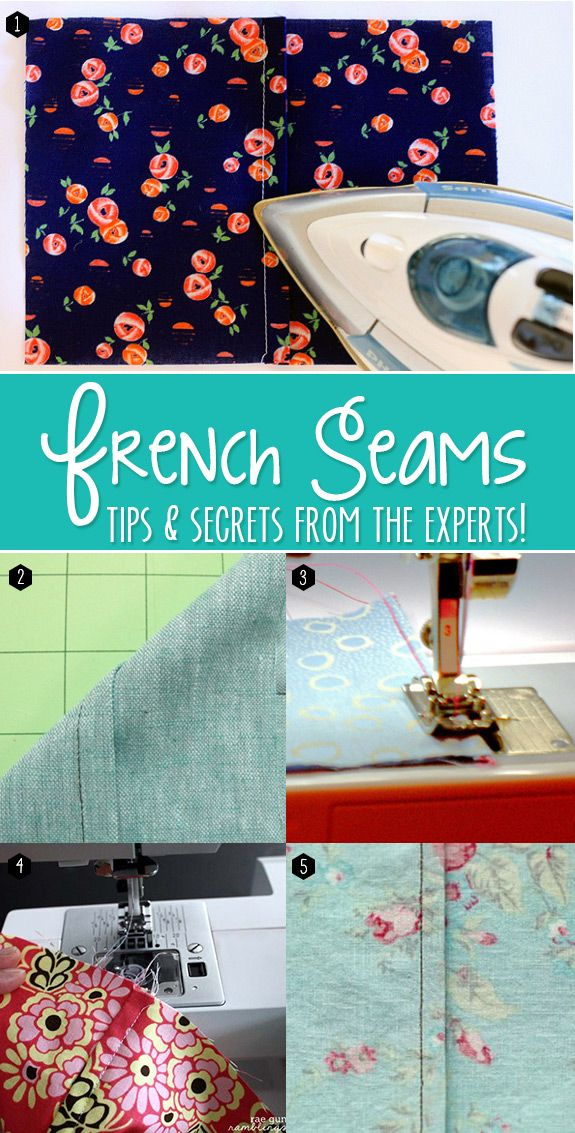 Genius tips for how to sew a french seam - Andrea's Notebook
