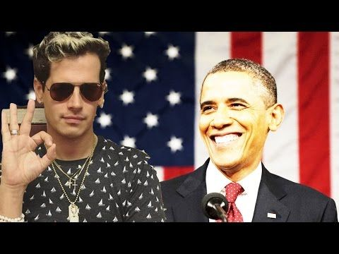 NEW: Milo Yiannopoulos Owns Obama Live on TV - YouTube