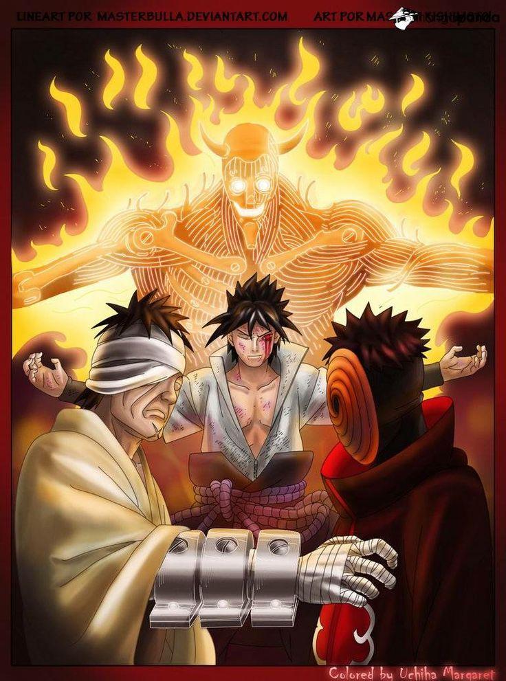 Sasuke, Susanoo, Danzo, Obito