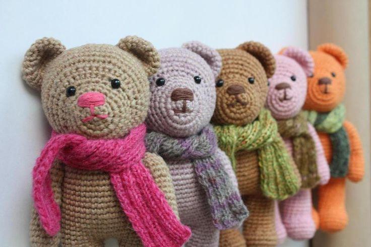crochet bear | Pattern available: Amigurumi Crochet Teddy Bear Pattern