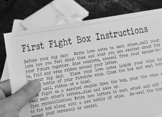 First fight box instructions digital printable personalized instructions for wine box ceremony memory box wedding or anniversary box