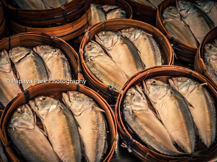 Fish on sale at a food market in Hua Hin, Thailand.