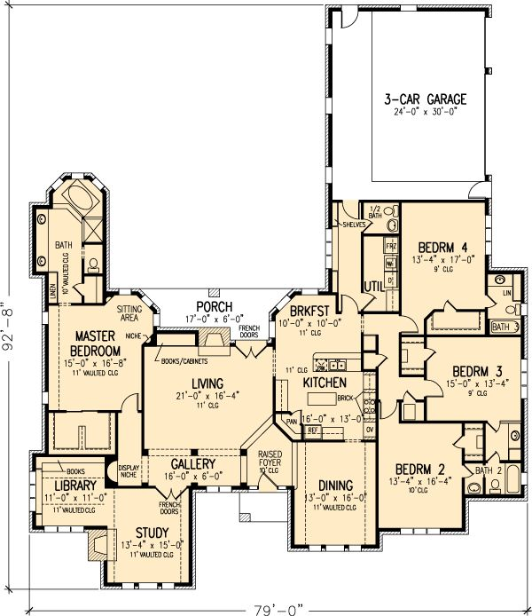 17 best images about house plans on pinterest house for One level house plans with bonus room