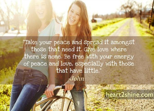 Rebirth- Take your Peace and Spread it. Spiritual Guidance with John. heart2shine.com