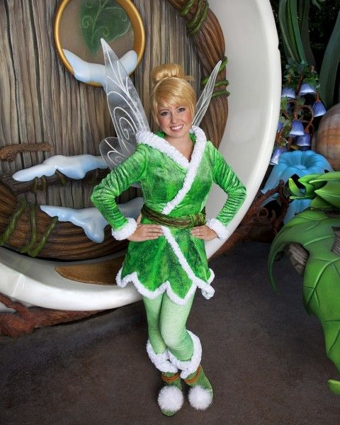 warm tinkerbell costume | Tinker Bell also debuted new winter wear for her appearances with the ...
