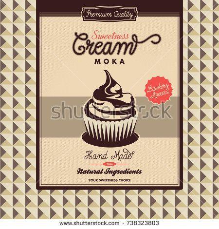 Moka Cupcakes Template Muffin Bakery Brochure Shop Menu Design