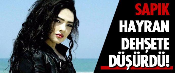 Türkmen sanatçı Çınara, evinin önüne kadar gelerek kendisini ölümle tehdit eden sapık hayranından şikayetçi oldu.