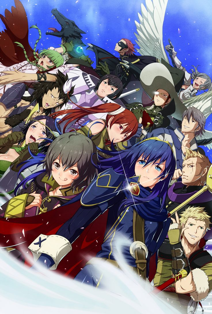 Fire Emblem: Awakening Children characters~ This looks so epic! I'm not sure though what Morgan's doing with her tongue... :)